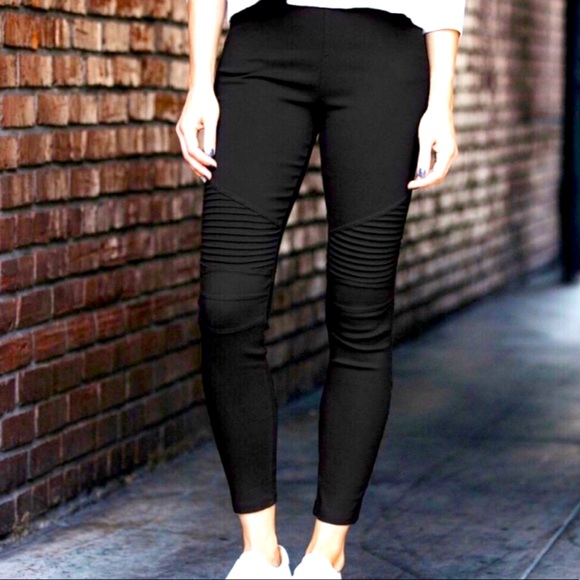 Moto Jeggings Black Perfect For Fall